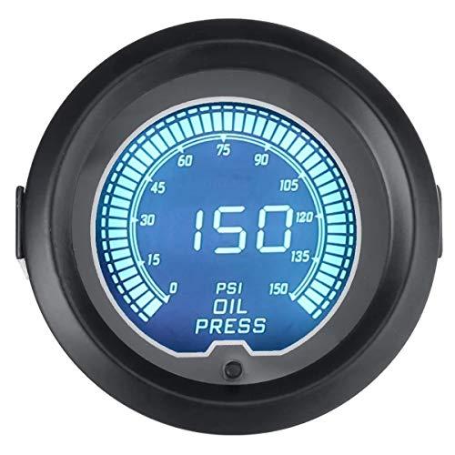 Motorrad-Instrumente 2inch 52mm Universal Oil Press Druckmessgerät Digital LED 7Color 150 PSI Meter