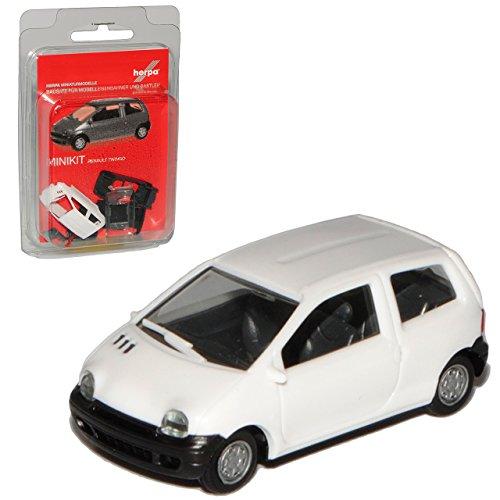 Herpa Renault Twingo I Weiss 1. Generation 1993-2007 Bausatz Kit H0 1/87 Modell Auto mit individiuellem Wunschkennzeichen