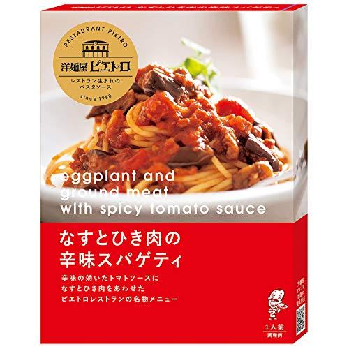 洋麺屋ピエトロ パスタソース なすとひき肉の辛味スパゲティ 120g ×5個