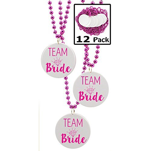 Team Bride Beads, Bachelorette Party Favors - 12 beads