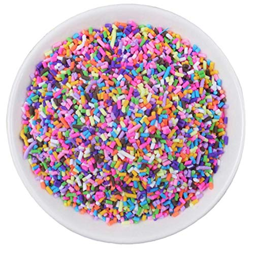 Lankater Clay Fluffy Slime Supplies Beads Particles Mud Toy for Fake Candy Chocolate Cake Dessert Scrapbook Phone Case 20g