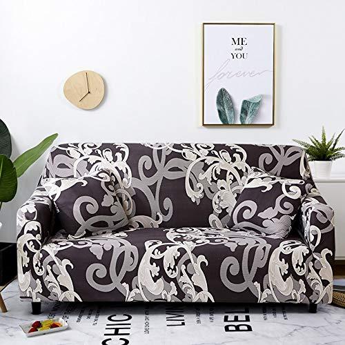WXQY Funda de sofá Flexible para Sala de Estar, Funda de sofá con Todo Incluido, sofá de Esquina Inferior, Chaise Longue, Funda de sofá antiincrustante A15, 4 plazas