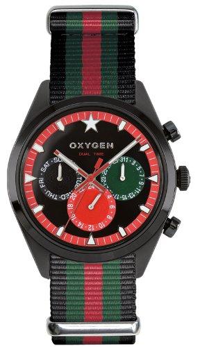 Oxygen Unisex-Armbanduhr Roma 40 Analog Quarz Nylon EX-SDT-ROM-40-NN-BLGNRE