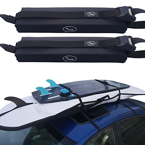 Surfboard Car Roof Rack Padded System  with Silicone Buckle Covers