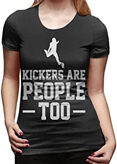 Women's Short Sleeve Crew-Neck Tshirts Kickers are People Too Casual Blouse