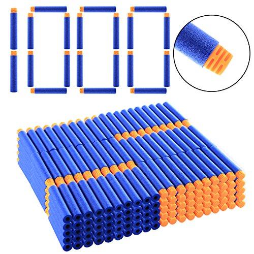 HYZH 1000 Stück Hoch Gepuffert Foam Pfeile Patronen Darts Für Nerf N-Strike Elite Series Blasters-Orange + Dunkelblau