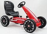 Licensed Abarth Pedal Go Kart con asiento ajustable y función de piñón libre