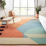 Safavieh Rodeo Drive Collection RD863A Handmade Mid-Century Modern Abstract Wool Area Rug,...