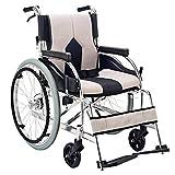 XQY Medizinischer Reha-Stuhl, Rollstuhl, Leichtgewicht-Rollstuhltransport Medizinischer 13,6 Kg Faltbarer Ergonomischer Bequemer Armlehnen-Hebebein 100 Kg Tragkraft 40 * 42 cm Sitzbreite Manueller Ro -