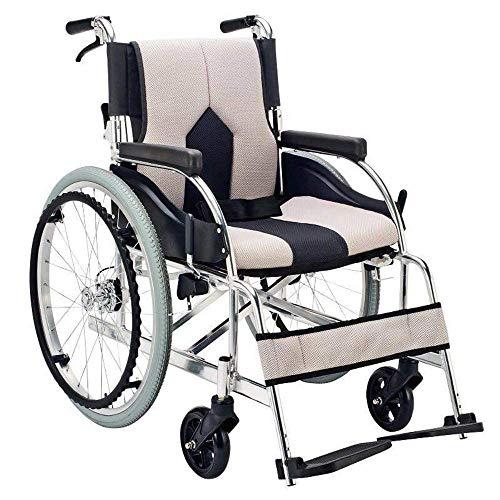 MJY Silla de ruedas ligera Transporte médico 13.6Kg Plegable Ergonómico Cómodo Reposabrazos Pata de elevación 100Kg Carga de carga 40 * 42Cm Ancho del asiento Silla de ruedas manual