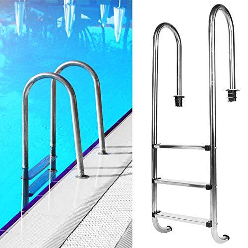 Redxiao 【𝐅𝐫𝐮𝐡𝐥𝐢𝐧𝐠 𝐕𝐞𝐫𝐤𝐚𝐮𝐟】 Schwimmbadleiter, 304 Edelstahl rutschfestes Schwimmbad Sicherheit 3-Stufen-Leiterbecken Whirlpools Zubehör für Private und große Schwimmbäder