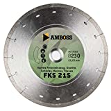 Amboss FFS 21 - Disco de corte de diamante (200 mm de diámetro x 25,4 mm, gres fino (hast...