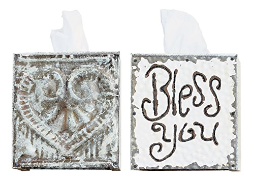 Creative Co-Op 'Bless You' Tissue Box Cover