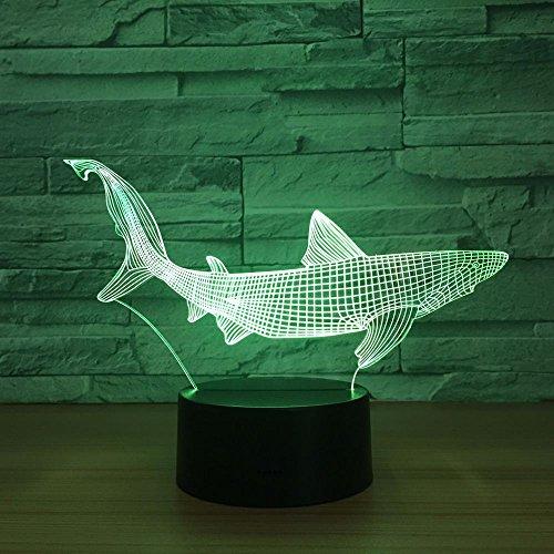 Lampara 3D-Shark 3D Led Herramientas De Pesca Dentro De Peces Lámpara
