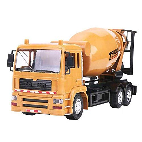 Knmbmg 8 Channels Multiple Functions Remote Control Car LED Light Construction Truck Cement Tanker Mixer Electrical Engineering Vehicle One Button Rotation Boy and Child's Best Gift