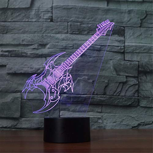3D Lampe Gitarre Modell Illusion 3D LED Lampe 7 Farbwechsel USB Touch 3D Desktop Nachtlicht Baby Schlaf Beleuchtung Geschenk Für Kinder