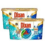 Dixan Dixan Discs - Detergente para lavadora predosificado en cápsulas 4 en 1,...
