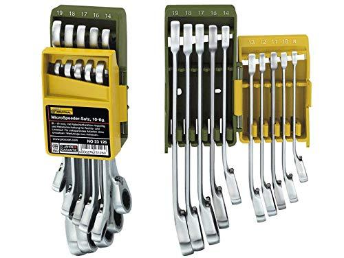 Proxxon 23126 Ratschenschlüssel - Satz (Ratsche, Knarre), 8-19 mm, extralange Ausführung - zeitsparendes Arbeiten