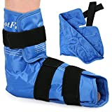 LotFancy Foot Ankle Ice Pack Wrap with Strap, Large Hot Cold Pack for Therapy, Reusable Gel Ice Pack for Achilles Tendon Injuries, Plantar Fasciitis, Swelling, Sprain, Heel Pain, Plush Lining