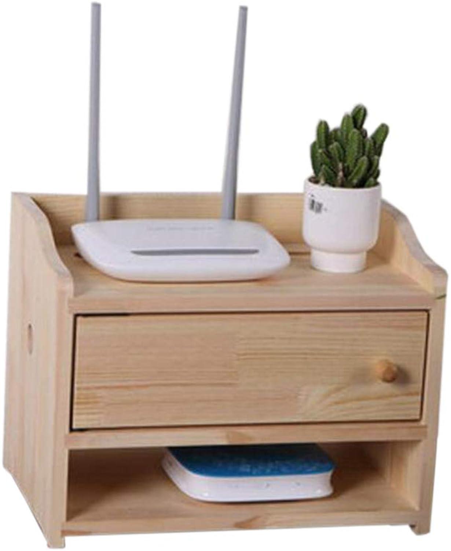 Wireless WiFi Box Router Storage Box Wall Mount Solid Wood Power Wire Storage Box Set Top Box (Size   32  22.2  24.6cm)