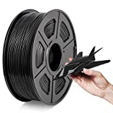Filamento ABS 1.75mm, 2021 Filamento ABS 3D Más Nuevo Negro, Precisión Dimensional +/- 0.02mm, Carrete 1KG (2.2 LBS), ABS Negro