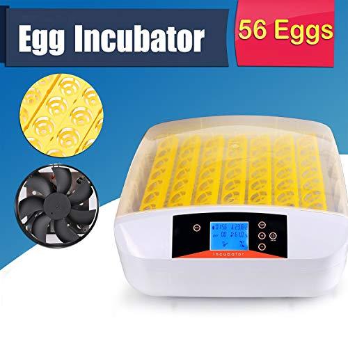 Ridgeyard 56 Huevos Incubadora Hatcher Control de temperatura Digital Automático de torneado de aves de corral Pájaro Pet Supplies Tool
