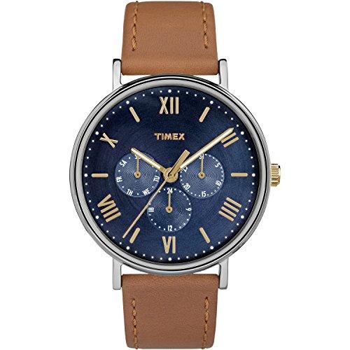 Timex Men's Southview TW2R29100 Brown Leather Japanese Quartz Fashion Watch