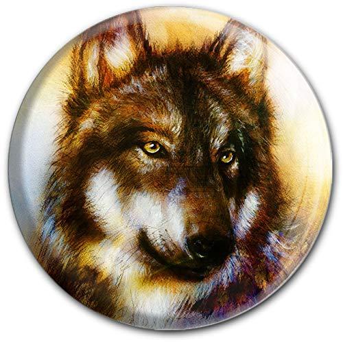 metALUm runder Acrylmagnet mit starkem Neodym - Magnet Wolf | Raubtiere | Wild #1301164