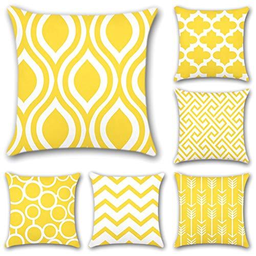 Cojines decorativos amarillos - JOTOM