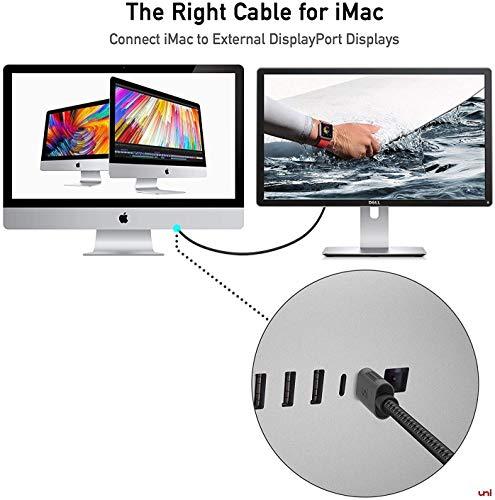 uni USB C to DisplayPort Cable (4K@60Hz, 2K@144Hz), 3m/10ft Thunderbolt 3 to DisplayPort Cable, Compatible for MacBook Pro, MacBook Air, iPad Pro, XPS15, Surface Book