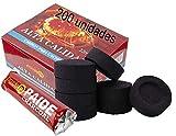 PAIDE - Discos de carbón para quemador, incienso, incensario, ahumar, shisha, hookah, narguile, cachimba (20 rollos, 200 unidades)