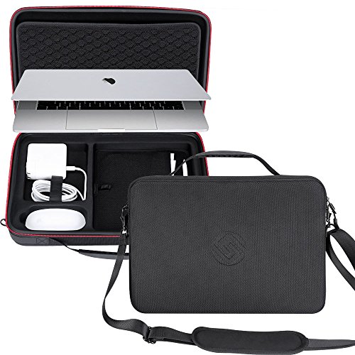 Smatree Hard Carrying Case for 15.4inch MacBook, 15.4 inch MacBook Pro 2019 Laptop Bags, Macbook Pro 15inch Shoulder Bags, 9.7 inch iPad Sleeve