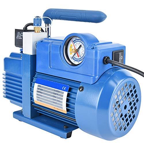 Bomba de compresor de aire, rosca de 7/16'Bomba de vacío de refrigerante Anti-reflujo de alta precisión con presión máxima de 2 Pa para R134A R12, R22, R410A, R407C