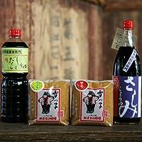 【法要ギフト】 手作り越後味噌 丸大豆醤油 おすすめセット