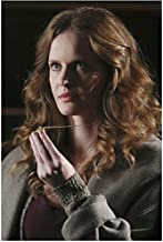 Rebecca Mader Once Upon a Time in grey sweater holding necklace 8 x 10 Inch Photo