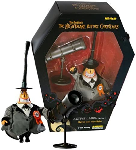 Mayor 9  Figure & Spotlight  Nightmare Before Christmas Active Label Action Figure Series  1 by Jun Planning