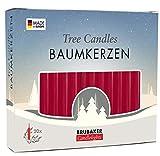 Brubaker - Lote de 20 velas para árbol de Navidad, diseño de pirámide, color rojo oscuro