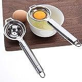 Konren Stainless Steel Egg Separator,2pcs Egg Yolk Separator Egg Whites and Yolks Strainer Divider Professional Egg Separator Tool for Baking Cake,Egg Custards,Mayonnaise