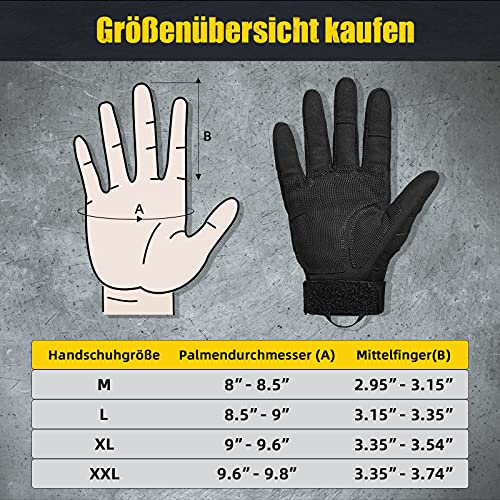 [Sport Handschuhe] FREETOO Motorrad Handschuhe Herren Vollfinger Army Gloves Ideal für Airsoft, Militär,Paintball,Airsoft, lebenslange Garantie - 7
