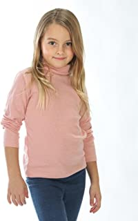 Little Girls Solid Color Turtleneck 100% Cotton (2-5 Years) Multiple Colors