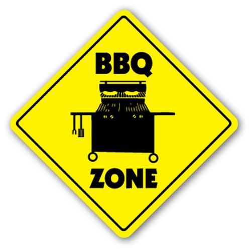 [SignJoker] BBQ ZONE Schild Grill Gas Grill Herd Sauce Texas Wandschild Dekoration