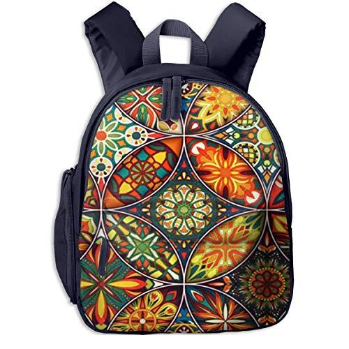 Kinderrucksack Kleinkind Jungen Mädchen Kindergartentasche Mandalas Batik Teppich Backpack Schultasche Rucksack