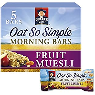 Quaker Oat So Simple Fruit Muesli Morning Bar, 5 x 35 g