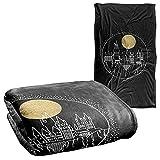 Harry Potter Blanket, 36'x58', Hogwarts Full Moon Line Art, Silky Touch Super Soft Throw Blanket