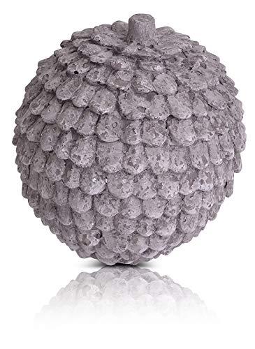 CHICCIE Décorations Magnesia Gris Verres Tailles : Pommes de pin, Durchmesser ca. 18cm
