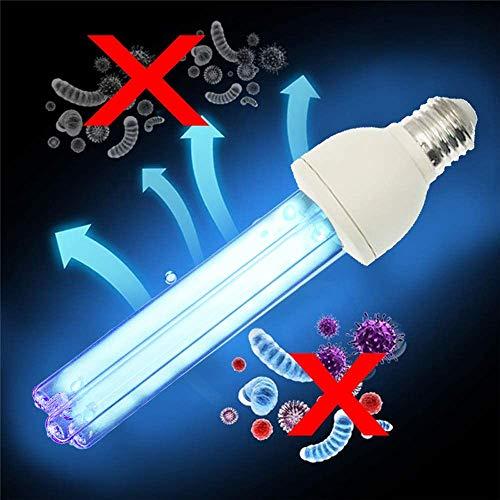 UV-Licht-Desinfektion E27 220V mit Fernbedienung UV-Keimtötungssterilisator für Auto Wohnzimmer Schlafzimmer Haushalt Küche Hotel Haustierbereich Ozon (25)