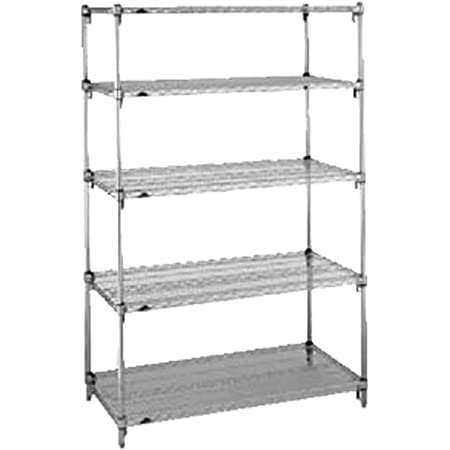 Wire Shelf 24x24 In Chrome Plated Furniture Decor