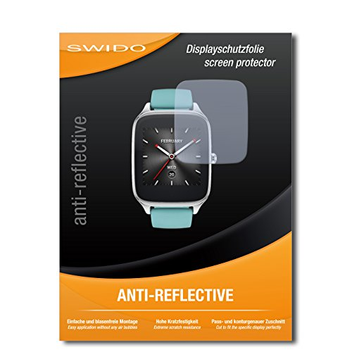 4 x SWIDO® Protector de pantalla Asus Zenwatch 2 WI501Q Protectores de pantalla de película 'AntiReflex' antideslumbrante