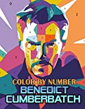 Benedict Cumberbatch Color By Number: Legendary Dr. Strange and Famous Sherlock Holmes Star, Iconic Smaug and Talented Actor Inspired Color Number Book For Fans Adults Stress Relief Gift