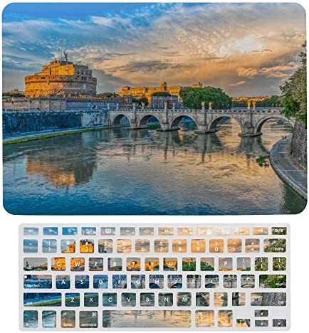 Compatible with MacBook Air 13 inch Case Keyboard Protective Shell Set Rome Bridge of Angels product image